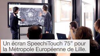 Utilisation de l'écran interactif en entreprise : La Métropole Européenne de Lille