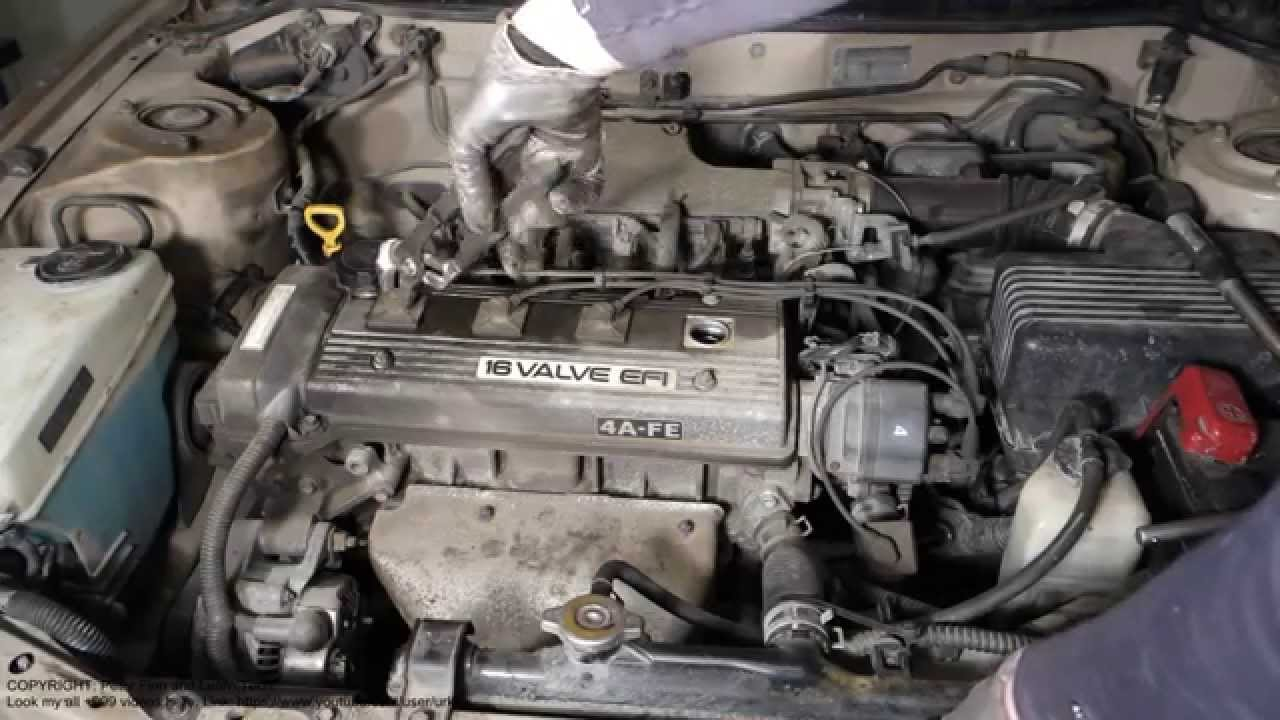 Spark Plug Cables Wrong Installation Toyota Corolla 1991