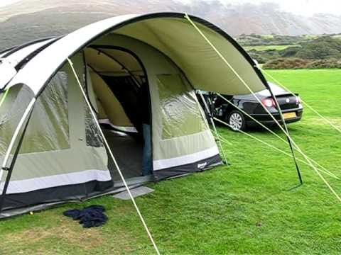 & Outwell Bear Lake 6 Tent in strong winds - north Wales. - YouTube