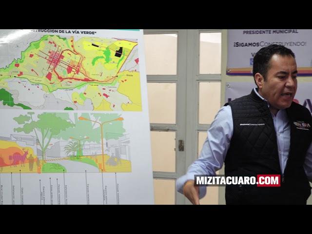 Presenta Carlos Herrea el plan de infraestructura para Zitácuaro