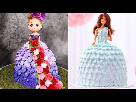 3 Fun & Creative Princess Cake Decorating Ideas   Quick Barbie Doll Cake Decorating Tutorials #6