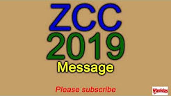 Zion Christian Church (ZCC) Message 2019 kopano (translated)(complete)