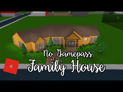 Welcome to Bloxburg: No gamepass Family House | Speed Build