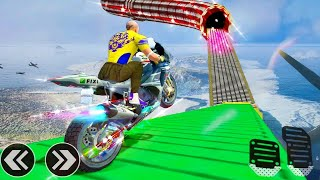 Crazy Bike Stunt Racing 3D Android GamePlay #Motor Cycle Game #Bike Games To Play #Games For Android