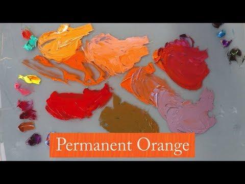 Michael Harding's Permanent Orange demonstrated by Vicki Norman