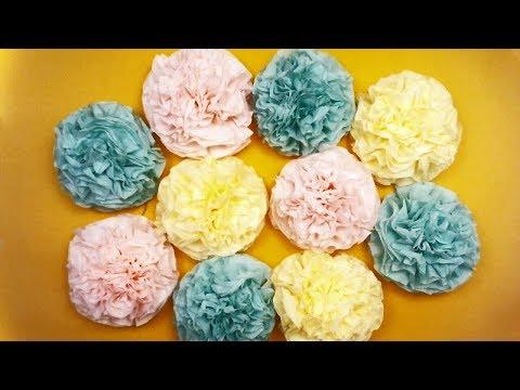HOW TO MAKE FLOWERS FROM NAPKINS DIY - MUSHROOM FLOWERS FROM PAPER NAPKINS. Paper Art - Easy DIY