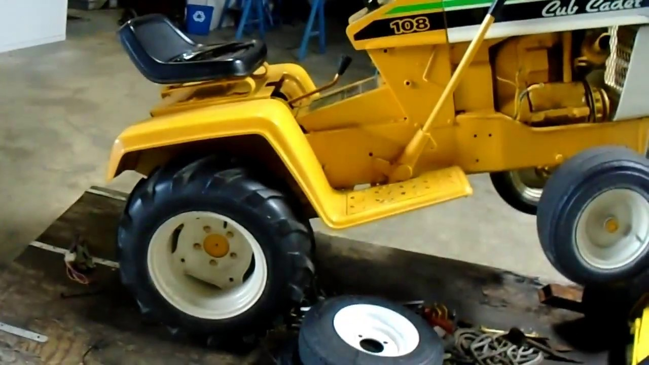 Cub Cadet 108 front end removal