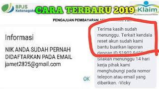 Download MENGATASI AKUN BERMASALAH || MENGGANTI AKUN EMAIL BARU || E KLAIM BPJS KETENAGAKERJAAN ONLINE 2019 Mp3 and Videos