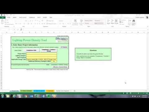 Lighting Power Density Tool Training Video