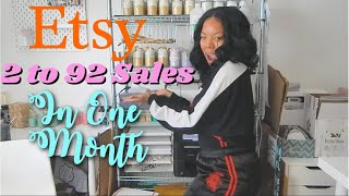 From 2 to 92 Etsy Sales in One month | Shop update