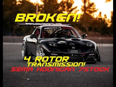 Breaking the 4 Rotor Transmission! Hoonigan 7Stock SEMA Re-Amemiya Road Trip