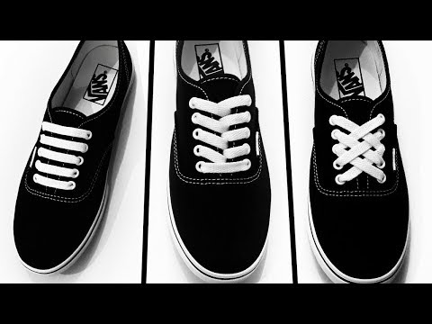 How to Lace Vans - Cross Lace - YouTube