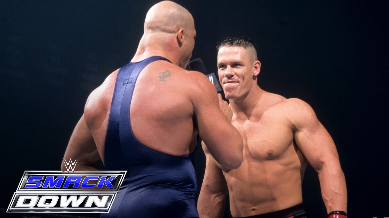 A Debuting John Cena Accepts Kurt Angles Open Challenge Smackdown June 27 2002