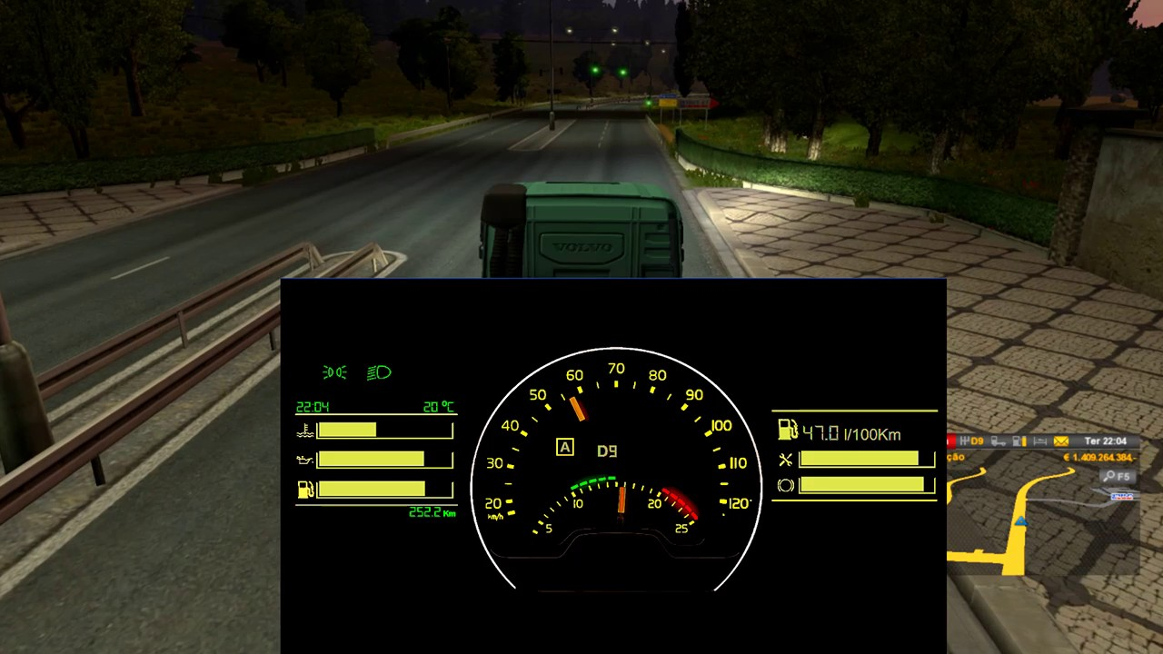 ETS2 Volvo FH Telemetry Dashboard Test - YouTube