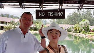 Moving to the Centara Tropicana Resort. Raining Koh Chang Island