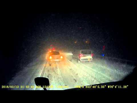 Lake effect snow storm on I-81 NB  2016/02/12