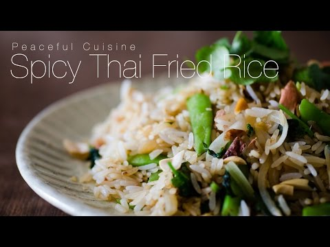Spicy Thai Fried Rice (vegan) ☆ タイ風炒飯の作り方