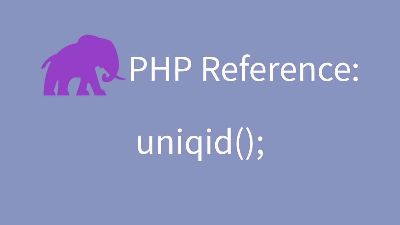 php uniqid