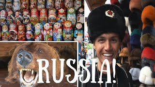 Moscow Market & FIRST TASTE OF RUSSIAN FOOD!