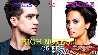 MALE SINGERS -vs- FEMALE SINGERS- HIGH NOTES! (C5-B5)