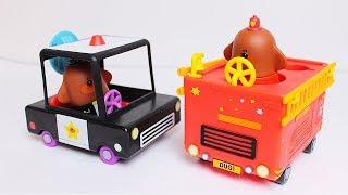 Hey Duggee - Unboxing delle Macchine da Pompiere e da Poliziotto [Apertura Gioco in Italiano]