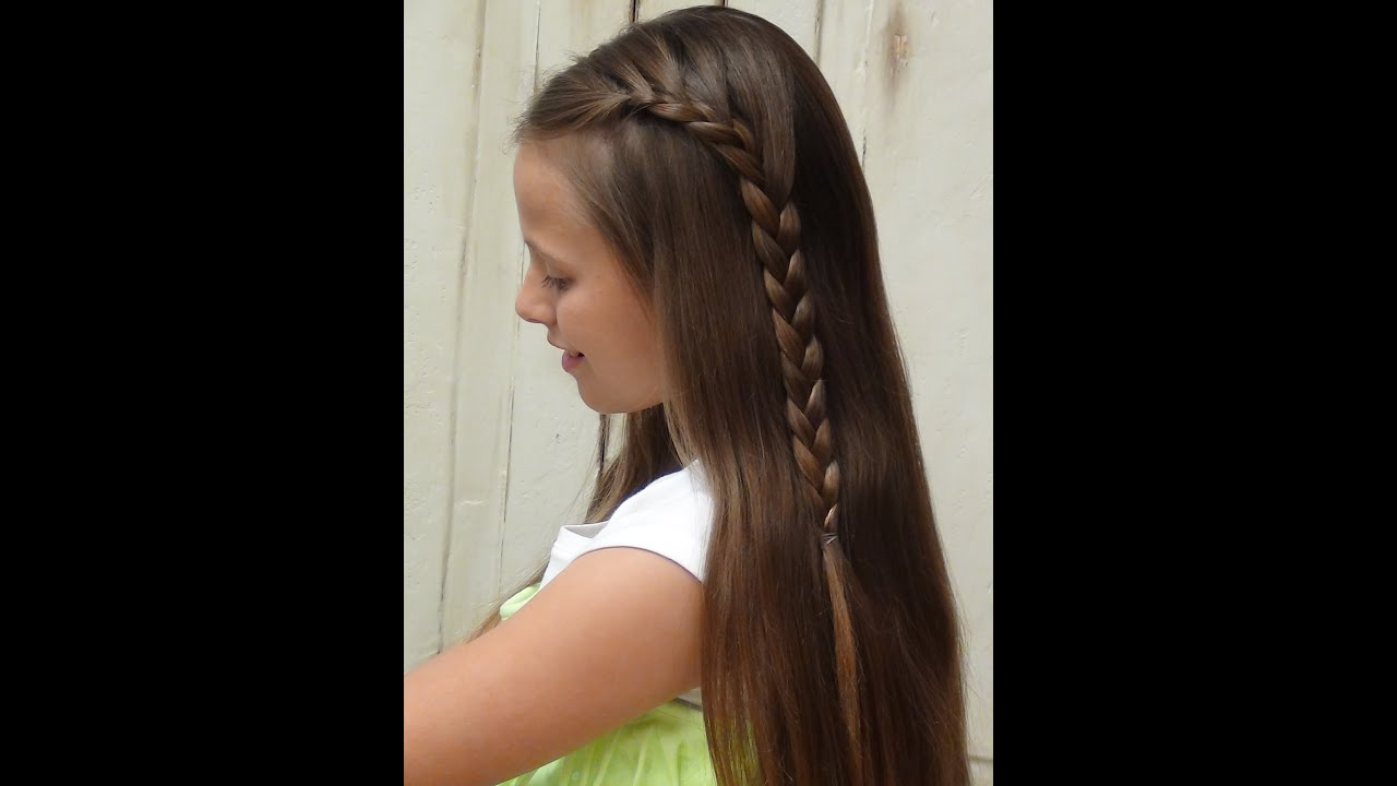 french braid hairstyles - easy braids - youtube