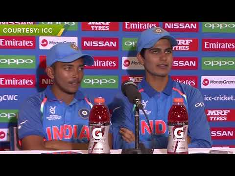 First conference after win tha U19 world cup of shubman gill