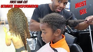 ULTIMATE HAIRCUT TRANSFORMATION!!!!! | FIRST HAIRCUT EVER| MUST SEE | HD