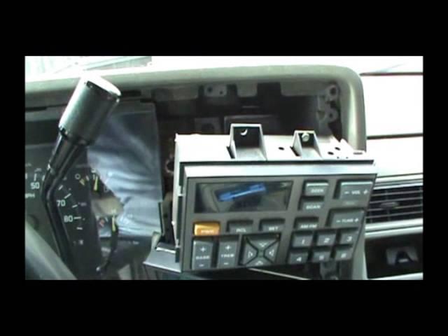93 chevy silverado aftermarket radio install  youtube