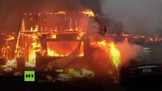 Evacuaciones masivas en California por un fuerte incendio