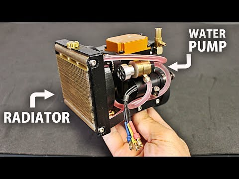 Making a Watercooling System (Radiator/ Pump) for the 4 Stroke Engine! thumbnail