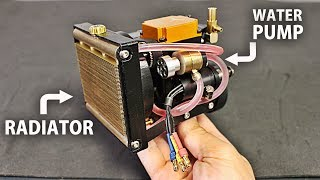 Making a Watercooling System (Radiator/ Pump) for the 4 Stroke Engine!