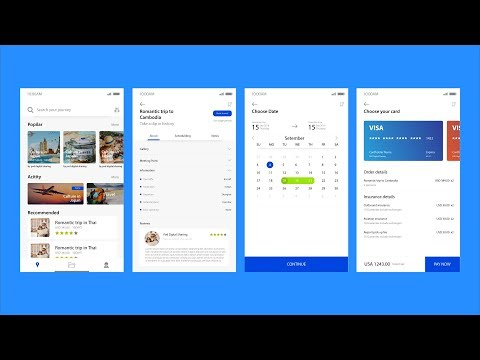 App Travel Booking UI Design Concept In Adobe Illustrator CC 2018
