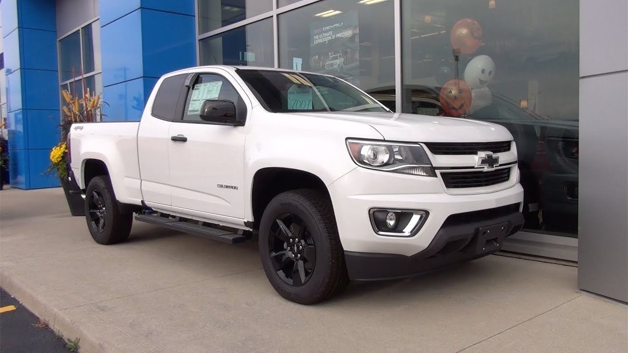 2017 Chevrolet Colorado Extended Cab Long Box 4 Wheel Drive Lt Summit White