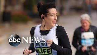 Woman who received a heart transplant honors donor by running half-marathon