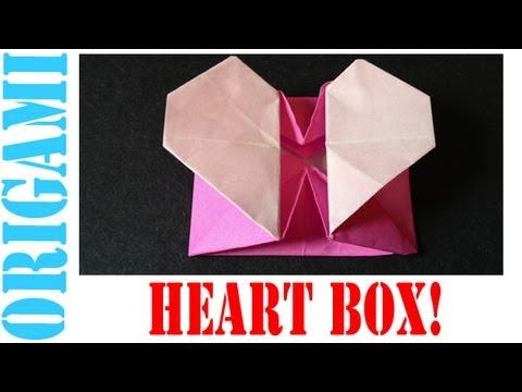 tutorial origami heart box