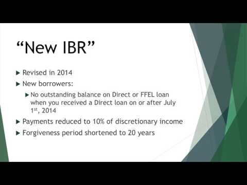 Income Based Repayment: IBR
