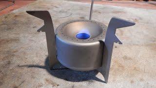 Vargo Titanium Converter Stove - 1 Fluid Ounce - Burn Test (Fail)
