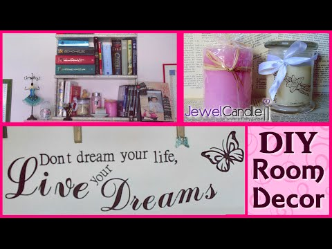 diy room decor ideas jewelcandle idee semplici ed