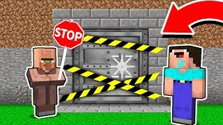Minecraft - NOOB vs PRO : WHY VILLAGER HIDE SECRET BUNKER FROM NOOB?! Challenge 100% trolling