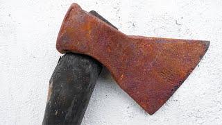 Restoration Rusty USSR Carpenter Axe YouTube Videos