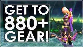 How To Gear Up to iLvl 880+ In Legion [EN/Mythic+ Edition]
