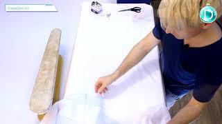 Практический урок №55. Костюм снегурочки. Сборка деталей подкладки и подборта.