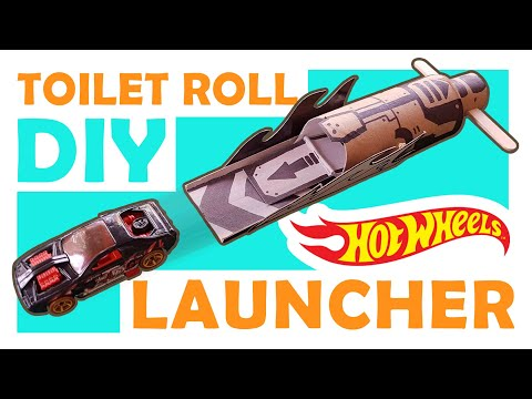 How to Make a DIY Hot Wheels Launcher of Toilet Roll, Step by Step!