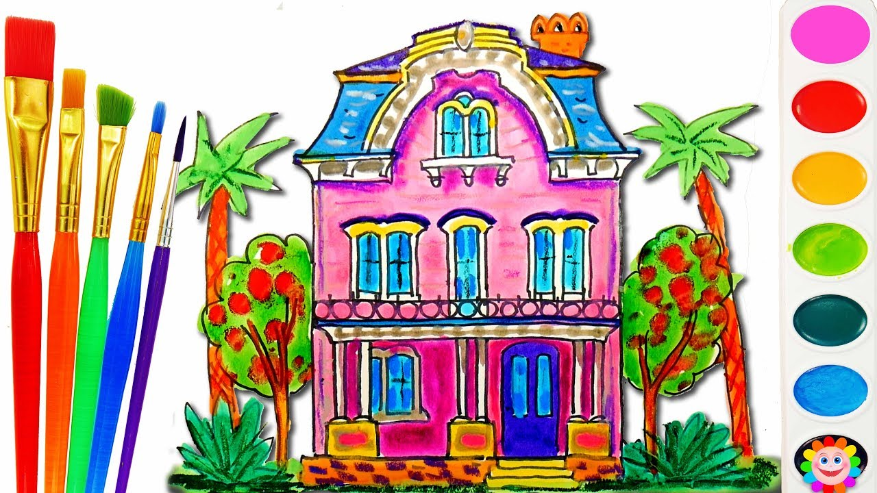 Barbie Doll House Coloring Book