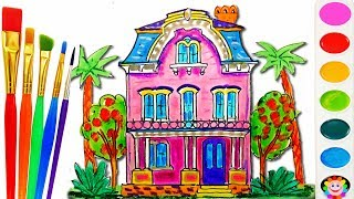 Barbie Doll House Coloring Book - Educational Drawing and Coloring Art Video for Kids