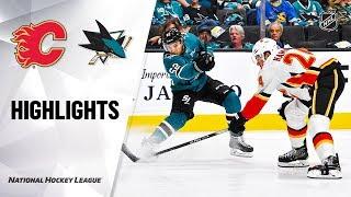 Flames @ Sharks 10/13/19 Highlights