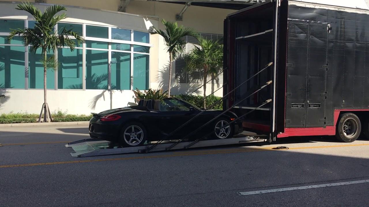 Enclosed Vehicle Unloading