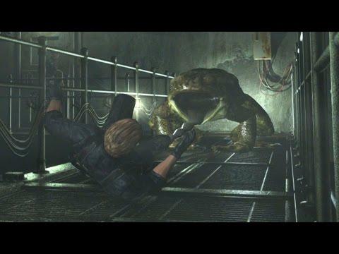 Resident Evil 0 HD Remaster Wesker Mode - Wesker Gets Eaten By a Frog (Lurker Death Scene)