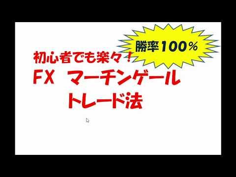 初心者でも楽々! FXマーチンゲールトレード手法①【勝率100%】
